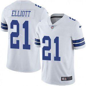 Cowboys Ezekiel Elliott White Jersey